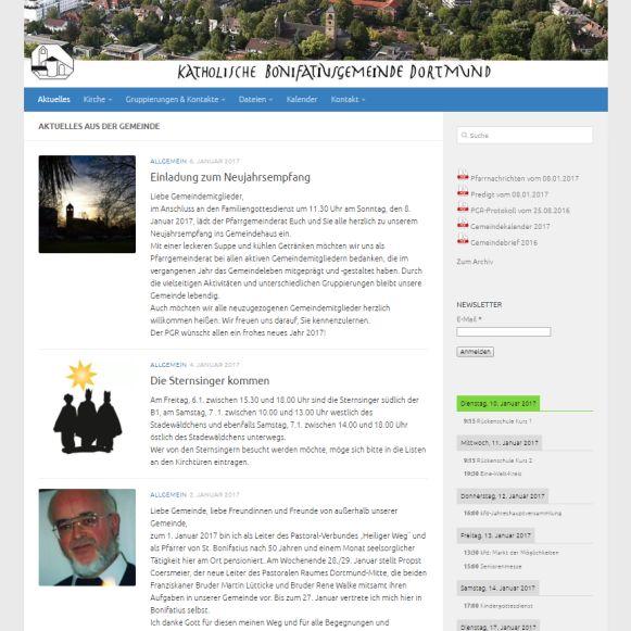 Internetseite der St. Bonifatius-Gemeinde